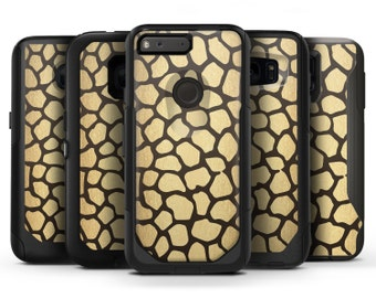 Dark Gold Flaked Animal v2 - OtterBox Case Skin-Kit for the iPhone, Galaxy & More