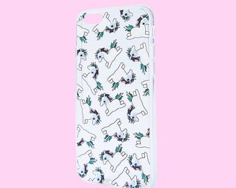 Chubby Cute Unicorn with Googly Eyes Phone Case For Apple iPhone 6/ 6S