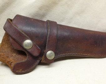 Vintage Hunter Leather Gun Holster - Leather Holster - Pistol Holder