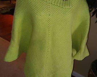 Cowl Neck Crochet Poncho