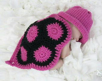 Newborn Crochet Turtle Outfit Newborn Photo Prop Baby girl baby boy