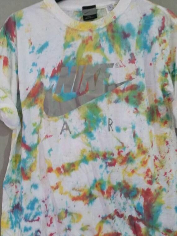b99a956466e ... unisex customised acid wash tie dye nike t shirt by mysticclothing