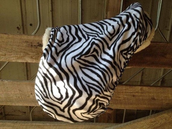 Zebra Print English Saddle Cover - Multiple Colours