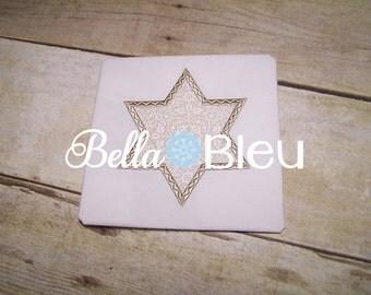 Hanukkah Embroidery Design, Star of David Applique Embroidery Design, Chanukkah Applique Embroidery  Design