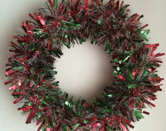 Red Green White Garland Wreath
