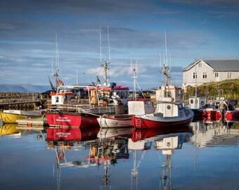 Fine Art Photography, Iceland, Fishing Boats