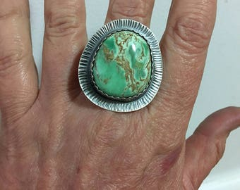 Size 9 Australian Variscite Sterling Silver Ring