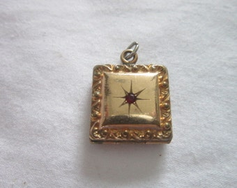 Locket Antique Victorian Jeweled & Engraved Photo Locket Necklace Pendant
