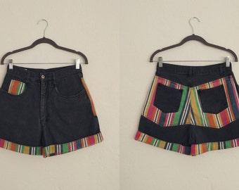 Nuovo High-waisted Jean Shorts (7/8). High-waisted Shorts. Jean Shorts. Striped Shorts. Vintage High-waisted Shorts.