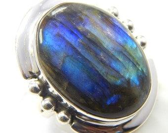 Labradorite ring,stone ring  silver ring, silver Labradorite ring, 92.5 sterling silver, Labradorite Silver Ring,Handmade Ring size us 6.5