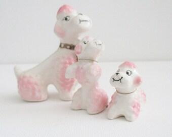 Vintage Miniature Poodle, Poodle Figurine, Porcelain Poodle, Puppy Figurine, Leashed Animal Figurine, Dog Figurine, Poodle Collectible