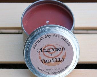 Cinnamon Vanilla Soy Wax Candle