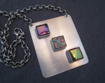 statement jewelry, statement necklace, bib necklace modern jewelry, metal necklace, modernist jewelry, silver necklace, Avant garde necklace