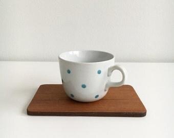 "Vintage Arabia Finland  coffee cup named ""Ping-pong"" by Raija Uosikkinen / Kaj Franck, 1950s  Made in Finland"