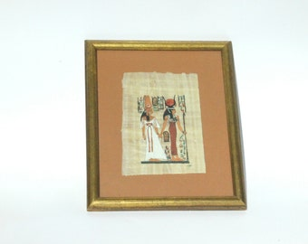 Hathor, Isis, Papyrus Wall Art, Egyptian Papyrus Wall Tapestry, Papyrus Painting, Papyrus Paper Art, African Art, Egyptian Folk Art,