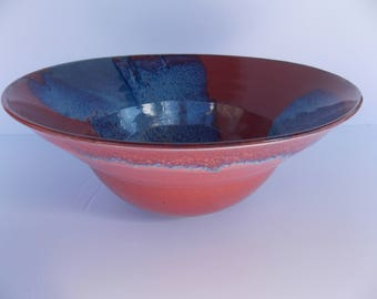 Rich red & blue fruit bowl. Perfect for that housewarming or wedding gift.