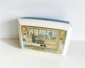 Vintage Swedish Carl Larsson collectors lunch box - Scandinavian mid century modern kitchen ware