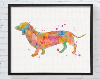 Dachshund Wall Art wire hair dachshund art dachshund picture dachshund artwork