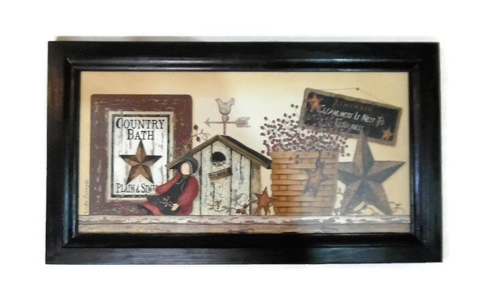 Country Bathroom Decor: Country Bath Primitive Bathroom Decor Country Home Decor