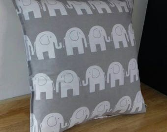 Cushion cover elephant grey nursery pillow case baby cushion decoration