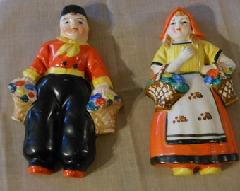 Yamaka. Dutch Boy & Girl. Occupied Japan