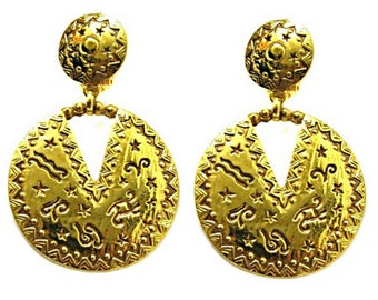 CHRISTIAN DIOR, beautiful earrings dangling vintage