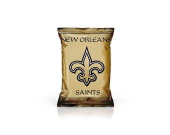 New Orleans Saints NFL Inspired Custom Favor/Chip bags