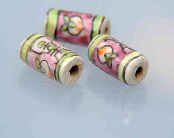 155 handpainted ceramic beads