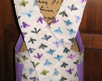 Cross Back apron-Small/Medium  fully lined or reversible