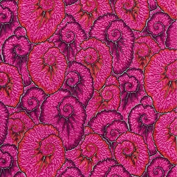 CURLIQUE PINK PWPJ087 Philip Jacobs for Kaffe Fassett Collective Sold in 1/2 yd increments