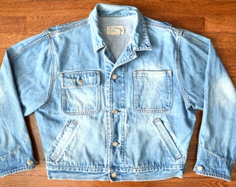 RARE, Authentic Vintage Ralph Lauren Jean Jacket Button-Up - Rugged Denim Jacket - Women's Large