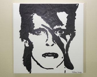 David Bowie Painting (12x12) Pop Art