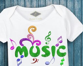 50% OFF Music   Machine Embroidery Applique Design 4 Sizes