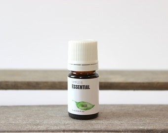 Basil Essential Oil - Aromatherapy Essential Oils, Therapeutic Essential Oils, Canada Essential Oils, Sweet Basil Essential Oil, Herb Oil