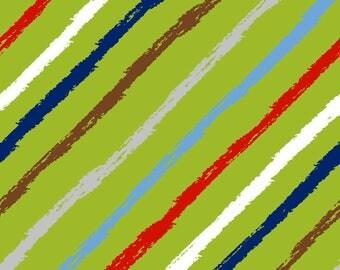 FLANNEL Green Bias Stripe, AE Nathan