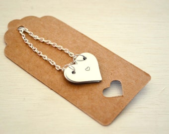 Hand Stamped Hidden Message Necklace