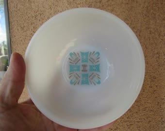 Set of 2 MCM Danish Design Milk Glass Cereal Bowls