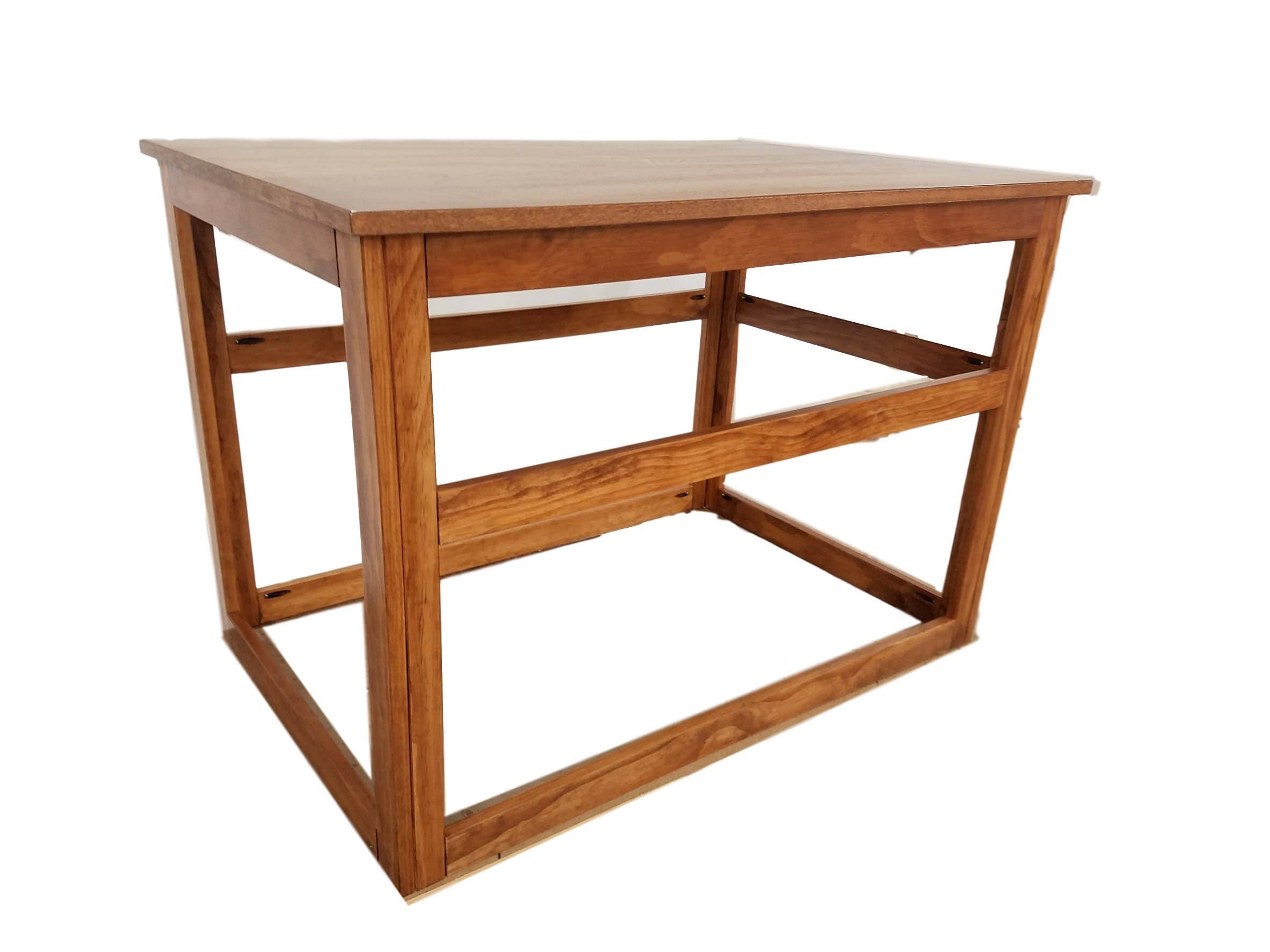 X large wooden cover for wire crate for dog or cat end table for Wooden crate end table