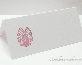 Place card with stamped gift (6 PCs)