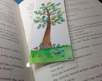 Handmade bookmarks,oaktree bookmarks,tree bookmark, unique bookmarks, oakleaf bookmark.