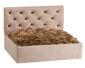 luxury pet furniture. pet bed dog furniture neutral headboard luxury