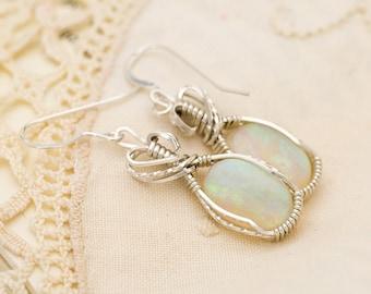 Crystal Opal Sterling Silver Earrings 6.35ct (CY25-E)
