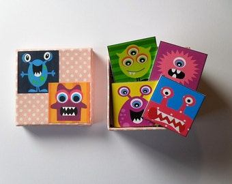 memory game funny and lovely monster matching game