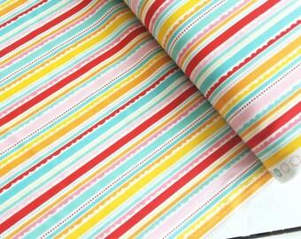 Happy Day - Happy Stripes(Multi on White) - Lori Whitlock - Riley Blake Designs