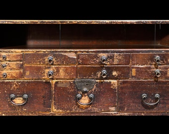 Edo Period Small Merchant Chest - FREE SHIPPING