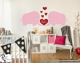 Elephants Love RLC2- Baby Elephant Wall Decals for Nursery