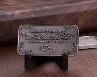 Engravable Wedding Coin