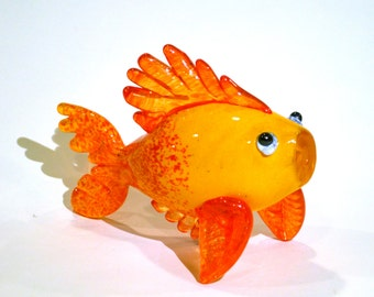 Gold Fish Hand Blown Glass