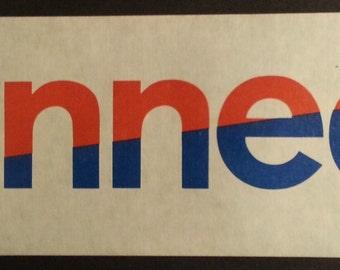 Original Vintage ROBERT KENNEDY for President Window Bumper Sticker RFK 1968