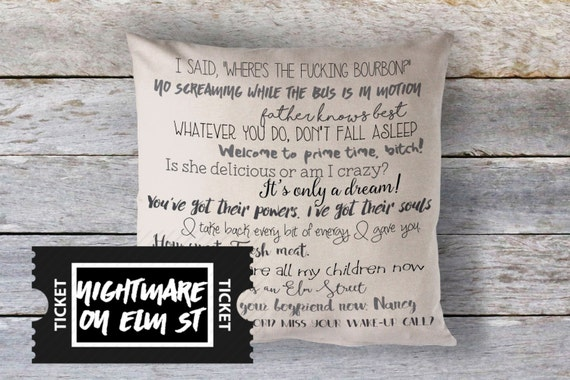 Nightmare On Elm St Quotes: Nightmare On Elm Street Freddy Krueger Pillow Cover